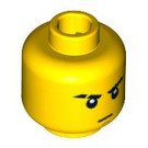 LEGO Yellow Jay Head (Safety Stud) (14908 / 93620 / 94262)