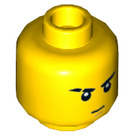 LEGO Yellow Jay Plain Head (Recessed Solid Stud) (16298)