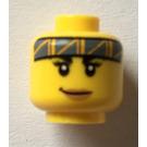 LEGO Yellow Jessica Sharpe Head (Safety Stud) (68559)