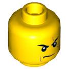 LEGO Yellow Kai Plain Head (Recessed Solid Stud) (16294)