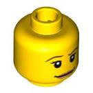 LEGO Yellow Lifeguard Head (Safety Stud) (91303)