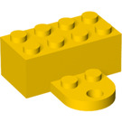 LEGO Yellow Magnet Brick 2 x 4 with Plate (90754)
