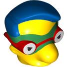 LEGO Milhouse as Fallout Boy Minifig Head (20625)