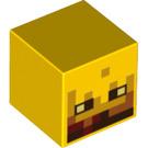 LEGO Yellow Minecraft Blaze Minifig Head (21129 / 28279)