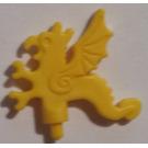 LEGO Yellow Minifig Accessory Helmet Plume Dragon