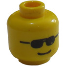 LEGO Yellow Minifig Head with Standard Grin and Sunglasses (Safety Stud)