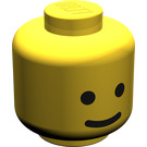 LEGO Minifig Head with Standard Grin (Solid Stud) (9336)