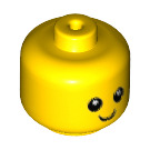 LEGO Yellow Minifigure Baby Head with Neck (35666)