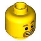 LEGO Yellow Minifigure Head with beard around mouth (Safety Stud) (45244)