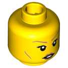 LEGO Yellow Minifigure Head with Decoration (Recessed Solid Stud) (32617)