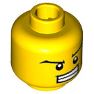 LEGO Yellow Minifigure Head with Decoration (Recessed Solid Stud) (32636)