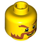 LEGO Yellow Minifigure Head with Decoration (Safety Stud) (13466 / 74305)