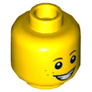 LEGO Yellow Minifigure Head with Freckels, Smiling/Scared (Recessed Solid Stud) (22186)