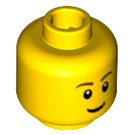 LEGO Yellow Minifigure Head with Smile, Pupils and Eyebrows (Safety Stud) (15123 / 50181)