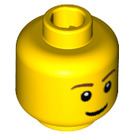 LEGO Minifigure Head with Smile, Pupils and Eyebrows (Safety Stud) (15123 / 50181 / 51520)