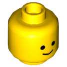 LEGO Yellow Minifigure Head with Standard Grin Pattern (Recessed Solid Stud) (9336)