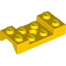 LEGO Yellow Mudguard 2 x 4 with Arch Studded with Hole (60212)