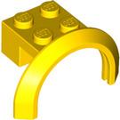 LEGO Yellow Mudguard with Round Arch 4 x 2 1/2 x 2 (50745)