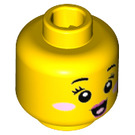 LEGO N -POP Girl Minifigure Head (Recessed Solid Stud) (34633)