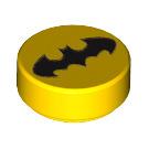 LEGO Yellow Nightwing Round Tile 1 x 1 (29888)