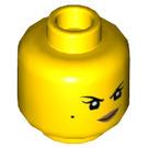 LEGO Yellow Nya as Samurai X Plain Head (Recessed Solid Stud) (49569)