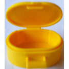 LEGO Yellow Oval Case with Handle (6203)