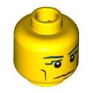 LEGO Yellow Pharaoh Head (Safety Stud) (91295)