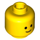 LEGO Yellow Plain Head with Basic Eyes and Smile (Safety Stud) (9336)