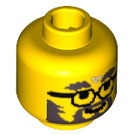 LEGO Yellow Plain Head with Beard and Glasses (Safety Stud) (83447)