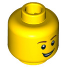 LEGO Yellow Plain Head with Decoration (Recessed Solid Stud) (14761 / 88950)