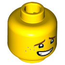 LEGO Yellow Plain Head with Decoration (Recessed Solid Stud) (34570)