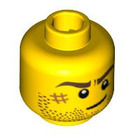 LEGO Yellow Plain Head with Decoration (Safety Stud) (10260 / 14759)
