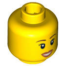 LEGO Plain Head with Decoration (Safety Stud) (12328 / 89165)
