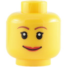 LEGO Yellow Plain Head with Decoration (Safety Stud) (14750 / 82131)