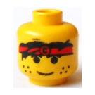 LEGO Plain Head with Decoration (Safety Stud) (3626)
