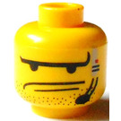 LEGO Yellow Plain Head with Decoration (Safety Stud)