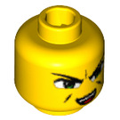 LEGO Yellow Plain Head with Decoration (Safety Stud) (55533)