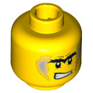 LEGO Yellow Plain Head with Decoration (Safety Stud) (64878)
