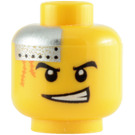 LEGO Yellow Plain Head with Decoration (Safety Stud) (64881)