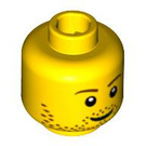 LEGO Yellow Plain Head with Decoration (Safety Stud) (88944 / 90227)