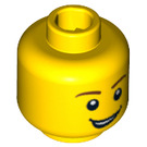 LEGO Yellow Plain Head with Lopsided Grin and White Pupils (Safety Stud) (14761 / 88950 / 92069)