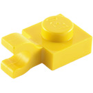 LEGO Yellow Plate 1 x 1 with Horizontal Clip (Flat Fronted Clip) (6019)