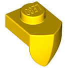 LEGO Yellow Plate 1 x 1 with Tooth (15070)