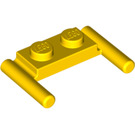 LEGO Yellow Plate 1 x 2 with Handles (Low Handles) (3839)