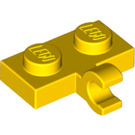 LEGO Yellow Plate 1 x 2 with Horizontal Clip (11476 / 65458)