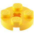 LEGO Yellow Plate 2 x 2 Round with Axle Hole (with '+' Axle Hole) (4032)