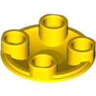 LEGO Yellow Plate 2 x 2 Round with Rounded Bottom (2654)