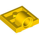 LEGO Yellow Plate 2 x 2 with Hole with Underneath Cross Support (10247)