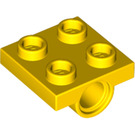 LEGO Yellow Plate 2 x 2 with Hole without Underneath Cross Support (2444)
