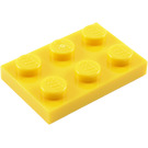 LEGO Yellow Plate 2 x 3 (3021)